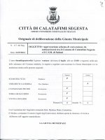 DELIBERA G.M. N. 117 - Comune di Calatafimi Segesta