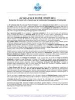 Comunicato Stampa 03/2014 - Su e Zo Per i Ponti Venezia