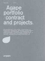 Agape portfolio /contract and projects.