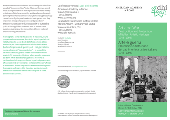 Art and War Arte e guerra - American Academy in Rome