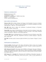 Curriculum vitae et studiorum Francesca Ape