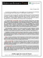 Offerta Commerciale Ordine Avvocati Trento SAE KLEOS AMW