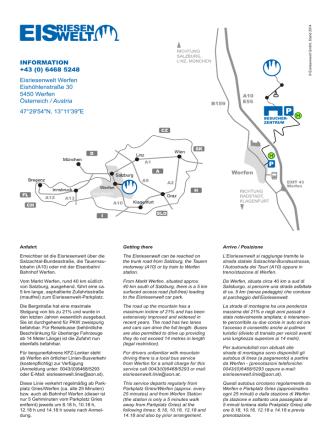 Anfahrtsplan - Eisriesenwelt
