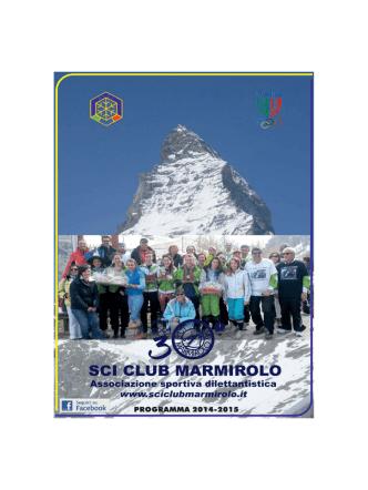 brochure 2014-2015 - Sci Club Marmirolo
