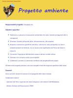 Responsabili progetto: Elisabetta Vio Obiettivi specifici