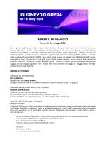 JOURNEY TO OPERA - Istituto Comprensivo Como Centro Città
