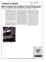 Barre cromate, Aso si rafforza e investe in Romania