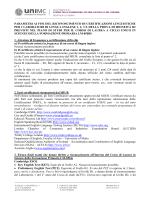 parametri ai fini del riconoscimento di certificazioni linguistiche per i