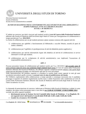 BANDO Collaborazioni a tempo parziale_triennali
