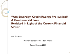 """Are Sovereign Credit Ratings Pro"