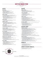 Wine Bottle List PDF