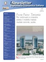 Newsletter N.1 gennaio 2015 - Ministero degli Affari Esteri