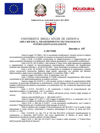 bando - Università degli Studi di Genova
