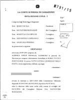 Corte di Cassazione, sez. VI, ordinanza 20/01/2015, n. 791