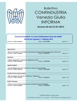 CONFINDUSTRIA Venezia Giulia INFORMA