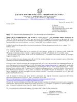 Al link il comunicato - LSS Leonardo da Vinci