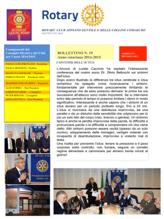 bollettino n.19 - Rotary Appiano Gentile