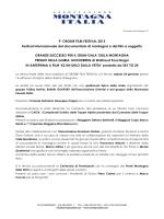 Comunicato stampa 12 - Associazione Montagna Italia