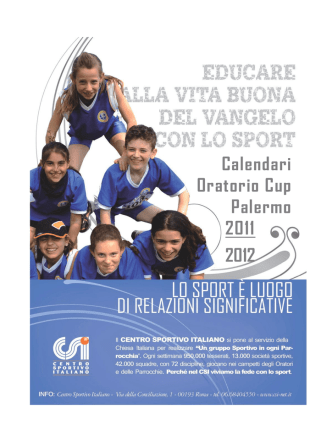 Calendari Oratorio Cup Palermo 2011 2012