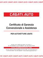 Certificato di Garanzia Convenzionale e Assistenza