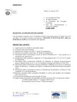 Consiglio 29 gennaio 2015 ore 18.30 -21