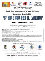 Volantini - Podismo Lombardo