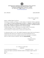 Comunicazione n. 96 laboratorio teatrale
