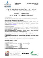 C.d.S. Regionale Assoluto - 2^ Prova
