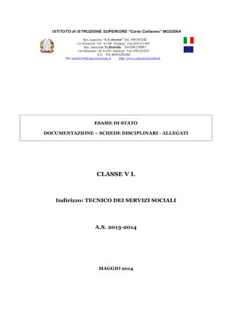CLASSE V L - Cattaneo