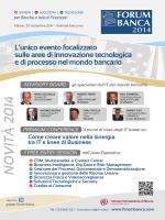 Brochure Forum Banca 2014