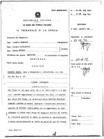 Nave Rigel. Sentenza del Tribunale di La Spezia del