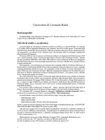 Curriculum di Leonardo Badia