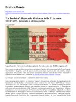 """""""La Tradotta"""", il giornale di trincea della 3^ Armata"""
