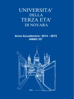 Opuscolo - Università della Terza Età di Novara
