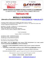 modulo ISCRIZIONE 2014 - asd triathlon bergamo
