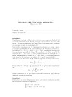 SOLUZIONI DEL COMPITO DI ARITMETICA 11 settembre 2014