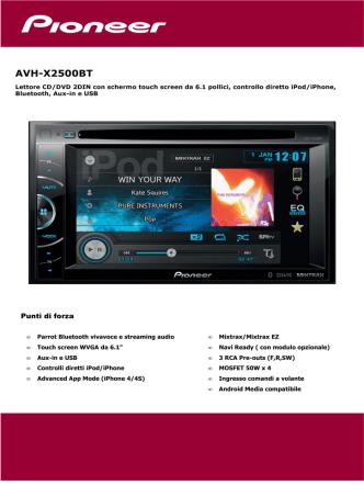 AVH-X2500BT
