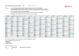 Abfuhrplan 2015 - Marquartstein