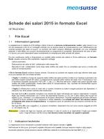 Schede dei salari 2015 in formato Excel