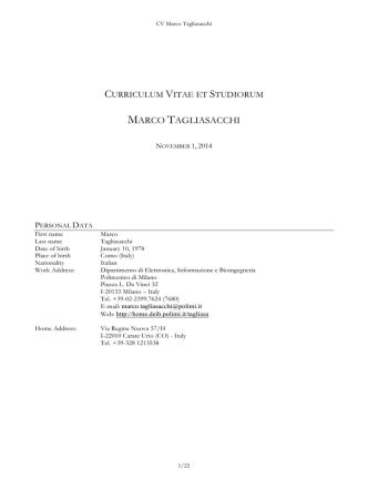 Curriculum - Politecnico di Milano-DEIB