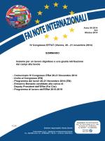 Anno XII n. 5 ottobre 2014 Congresso Effat 20-21