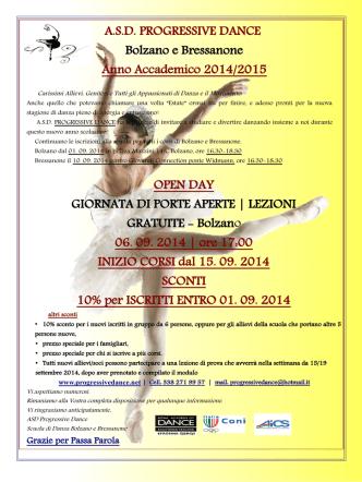 A.S.D. PROGRESSIVE DANCE Bolzano e Bressanone Anno