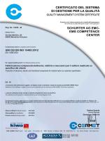 certificato del sistema di gestione per la qualità schurter ag emc