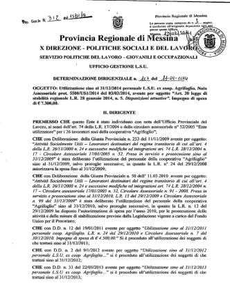 D.D. 312 N 127 - Provincia Regionale di Messina