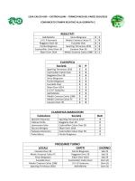 tabellini 2 giornata - UISP Castrovillari
