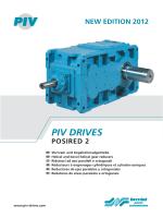 PIV DRIVES - Brevini Power Transmission