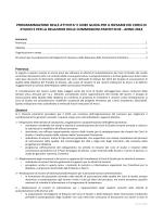 Programmazione e linee guida per il Riesame dei CdS e per le