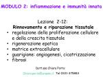MODULO 2: infiammazione e immunità innata Lezione 2