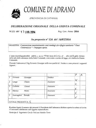 delgm.100 - Comune di Adrano