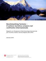 Il settore turistico svizzero nel confronto internazionale